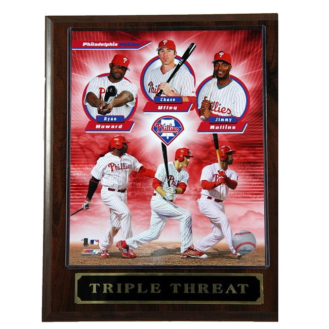 Phillies Triple Threat Plaque
