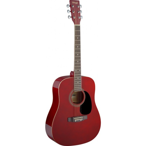 Stagg SA20D Red Dreadnought Acoustic Guitar