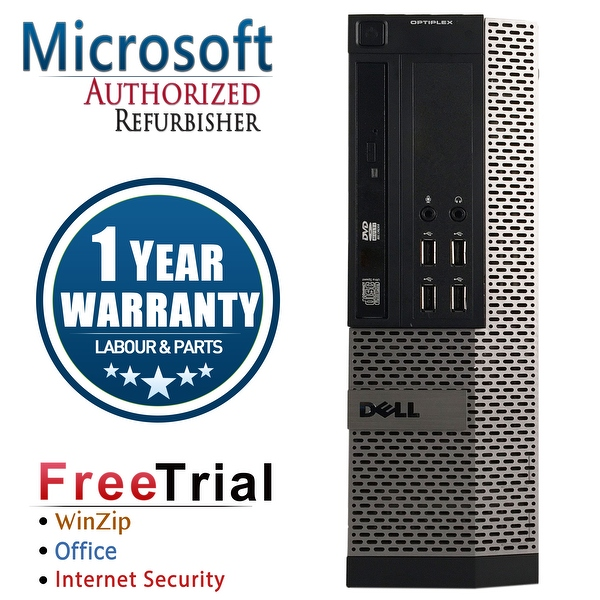 Refurbished Dell OptiPlex 790 SFF Intel Core I5 2400 3.1G 8G DDR3 1TB DVD WIN 10 Pro 64 Bits 1 Year Warranty - Black