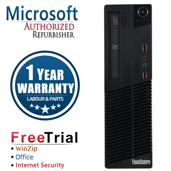 Refurbished Lenovo ThinkCentre M81 SFF Intel Core I5 2400 3.1G 16G DDR3 2TB DVD Win 10 Pro 1 Year Warranty - Black