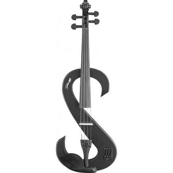 Stagg EVA 4/4 Black Silent Viola Set With Soft Case and Headphones