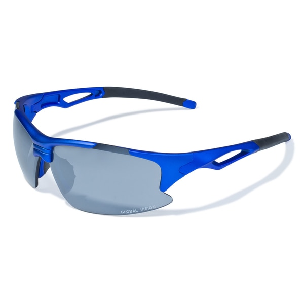 Men's 'Friday' Blue Lens Sport Sunglasses