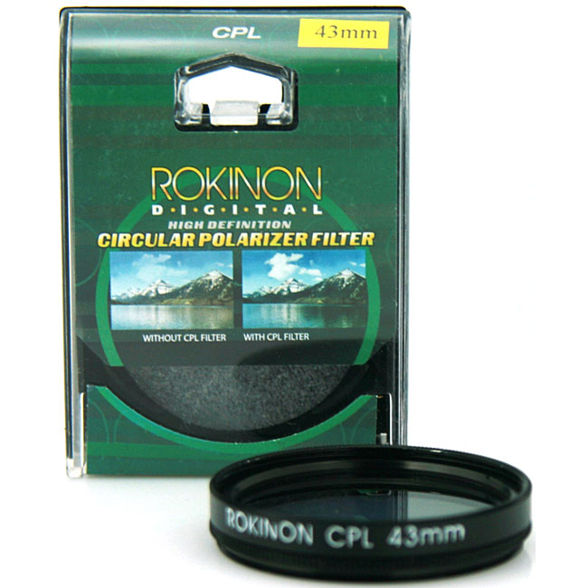 Rokinon 43mm High Definition CPL Camera Lens Filter