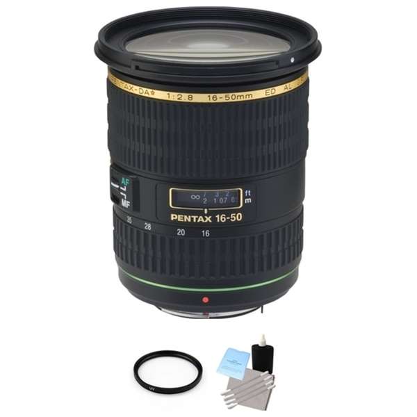 Pentax SMCP-DA* 16-50mm f/2.8 ED AL (IF) SDM AF Lens + UV Filter & Cleaning Bundle