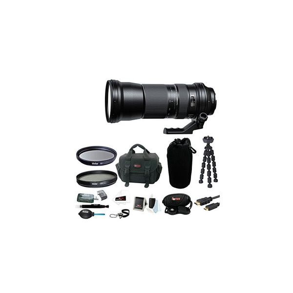 Tamron SP 150-600mm f/5-6.3 Di VC USD Lens for Canon with 95mm UV & Circular Polarizing Filters Kit
