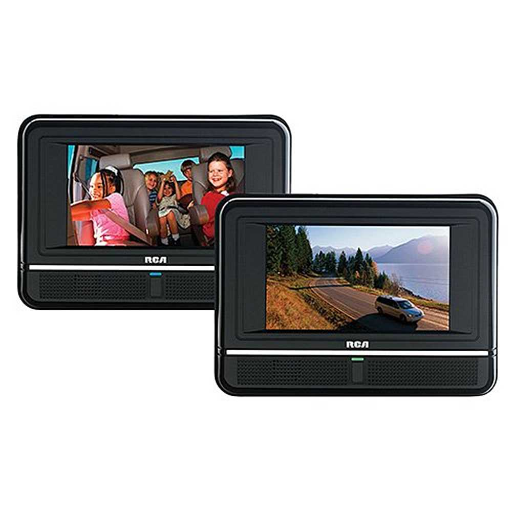 RCA Twin 7-Inch Mobile DVD Player with 2 Remotes, Watch 2 Different DVDs at the Same Time, Black (Refurbished)