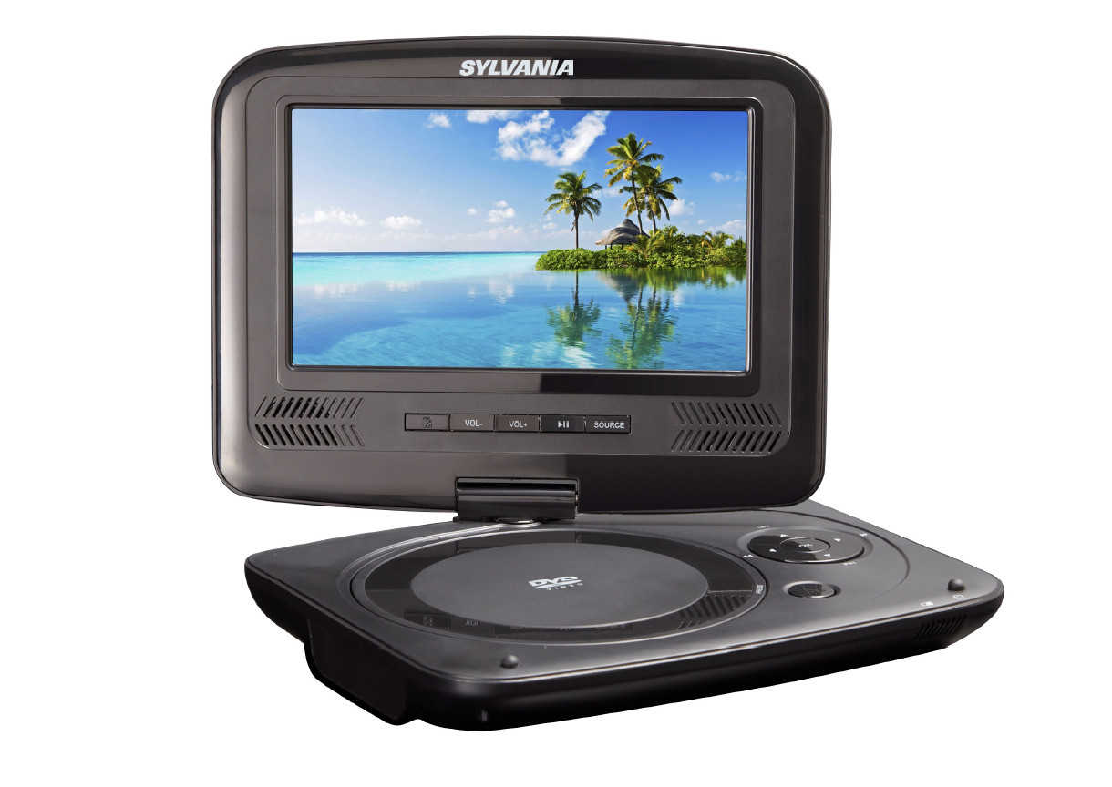 sylvania 7-inch portOle dvd player, swivel screen, usb/sd card reader