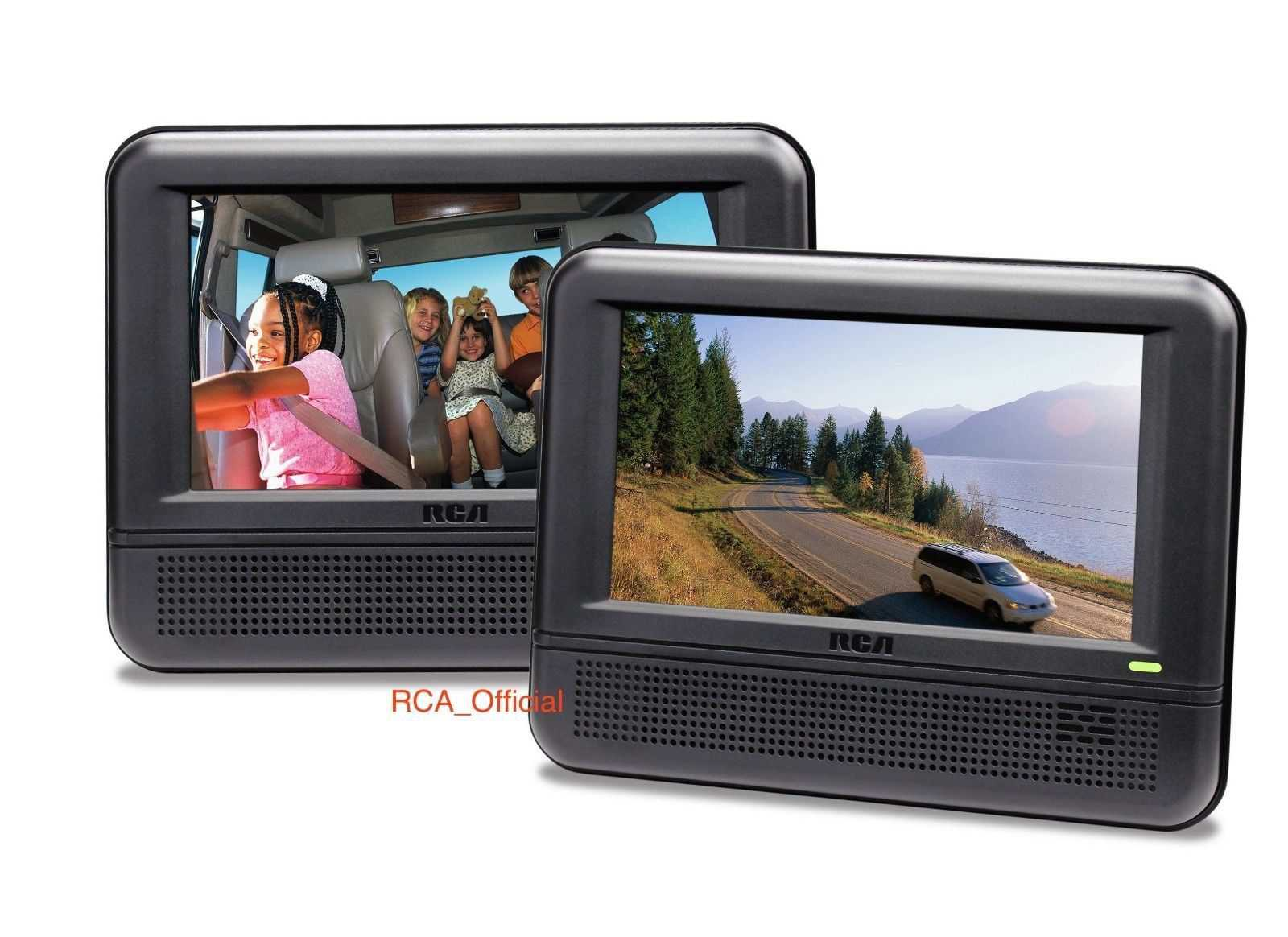 RCA DRC6272E22 Twin Mobile DVD System with 7-Inch Screens (Black) Refurbished