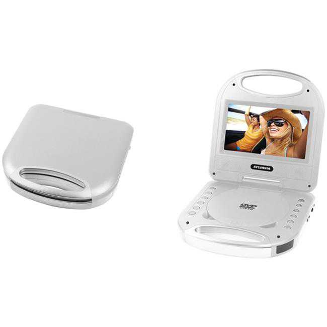 Portable DVD Player with Integrated Handle, Silver - 7 in.