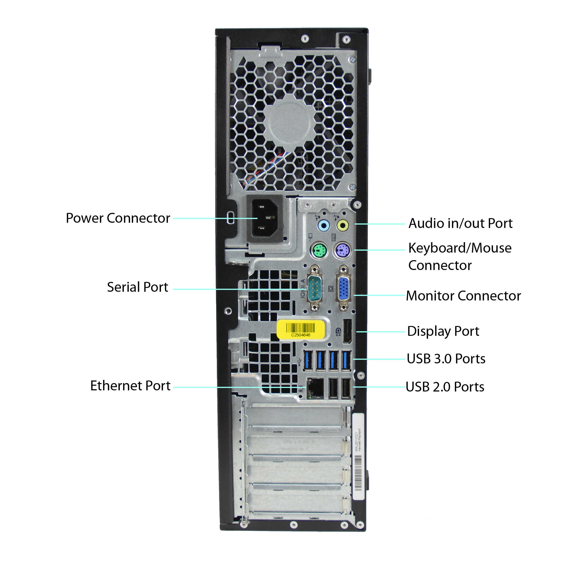 Refurbished HP Compaq 6300-SFF WA2-0323 Desktop PC with Intel Core i5-3470 Processor, 8GB Memory, 2TB Hard Drive and Windows 10 Pro (Monitor Not Included)