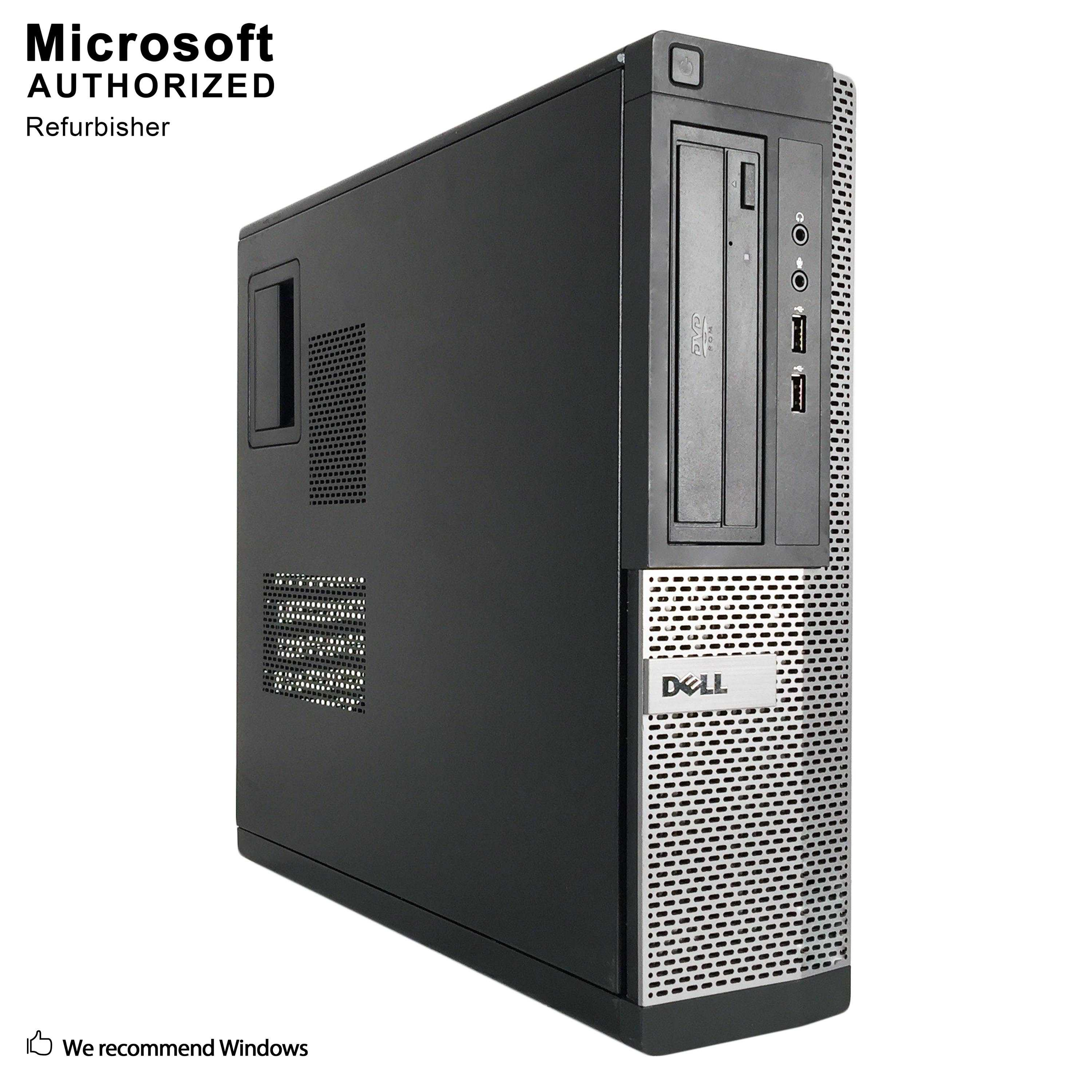 Certified Refurbished Dell OptiPlex 390 Desktop Intel Core i3-2100 3.10 G 8GB RAM 1TB HDD DVD Drive USB WIFI USB BT 4.0 VGA HDMI Win 10 Pro 64 Bit1 Year Warranty