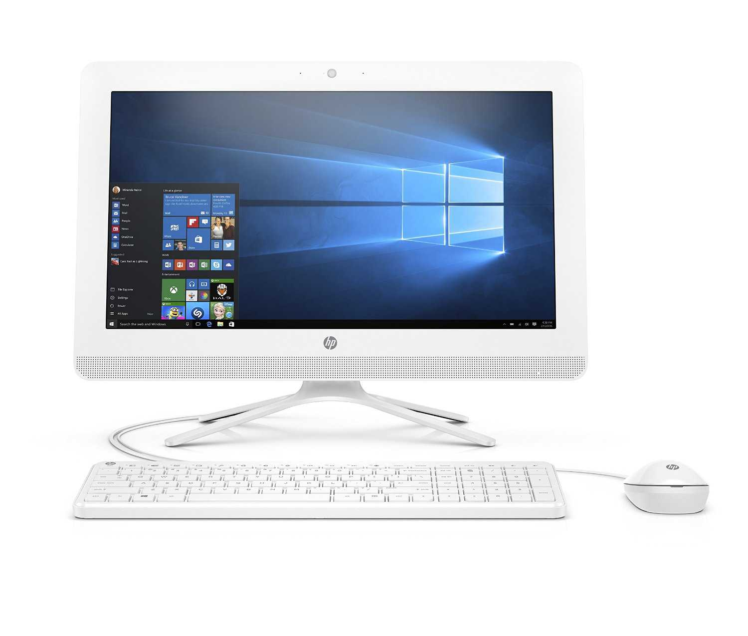 Refurbished - HP 22-B016 21.5' AIO Desktop Intel Pentium J3710 1.6GHz 4GB 1TB WiFi BT Win10